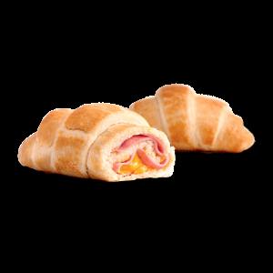 Mini Croissant de Presunto e Queijo